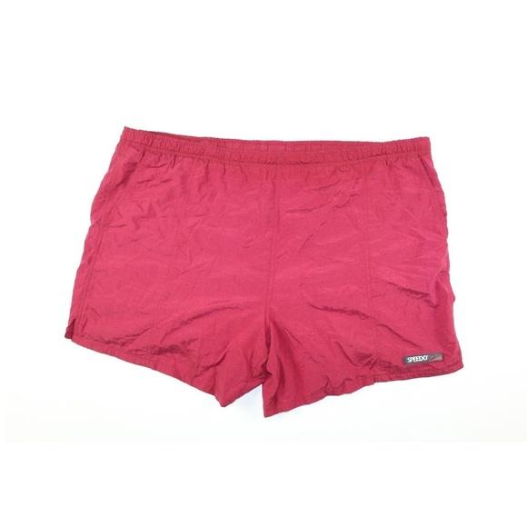 9dc3a42c0a6dc Speedo Swim | Vintage 90s Mens Xl Trunks Shorts Red | Poshmark